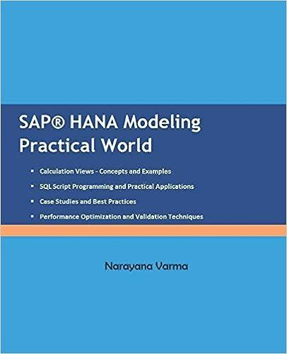 SAP HANA Modeling Practical World: 9781980822363: Computer Science
