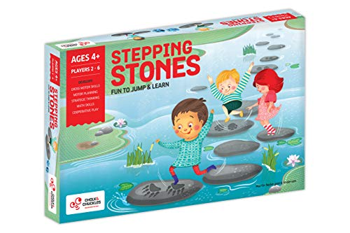 Chalk and Chuckles Stepping Stones Active Movement Game with Multiplay Formats for Ages 4+ to 8 Years Old