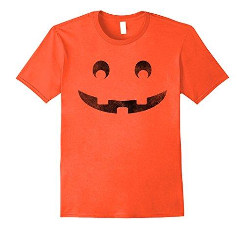 Mens Halloween Jack O'Lantern Vintage Smiley Pumpkin T-shirt XL Orange
