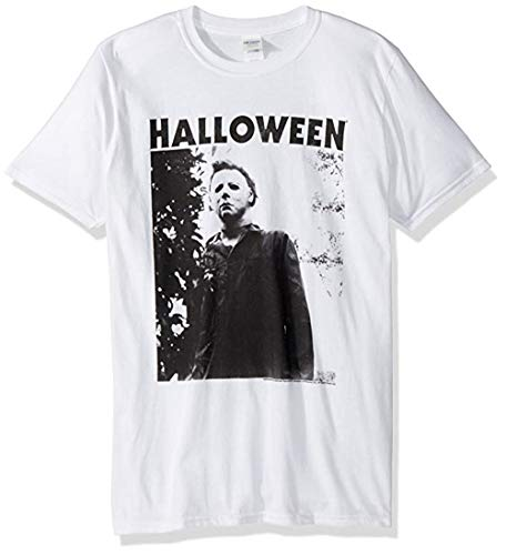 Halloween The Movie Watching Big Adult Short Sleeve T-Shirt White