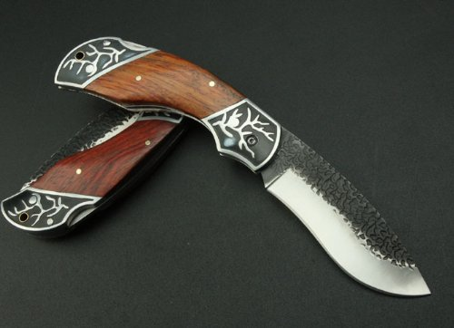 Western Cowboy Survival Aluminium + Rosewood Handle Pocket Folding Knife Collectible Best Buy
