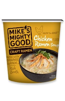 MIKE'S MIGHTY GOOD, SOUP, OG3, RAMEN, CHICKN, CUP - Pack of 6