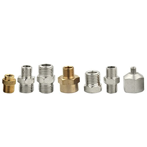 OPHIR 7PCS Airbrush Adapter Fitting Airbrush Connector Badger Hose Adapter for Airbrush Hose Compressor 1/4 to -
