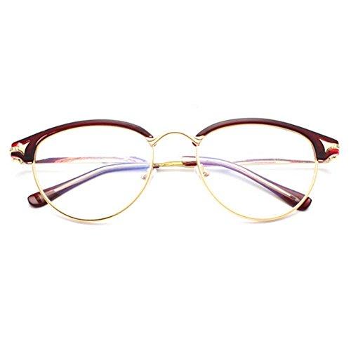 G&T Unisex Retro Fashion Metal Frame Anti-blue Clear Lens College Style Plain - Mar Www Costa Del