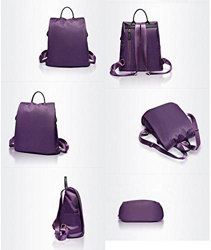 Yokeeyoo - Bolso mochila  para mujer rojo rojo carmesí Free rosa (b)