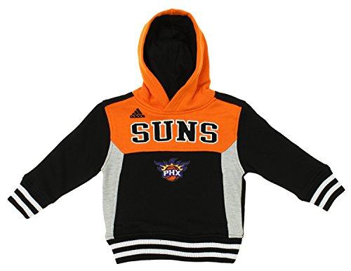 - adidas NBA Toddler's Phoenix Suns Throw Back Block Hoodie, Black Orange 2T