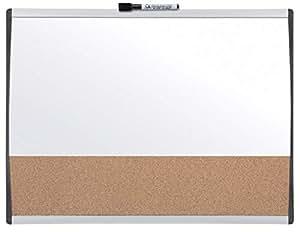 Rexel - Tablero de combinación de borrado en seco magnético y corcho con marco arqueado, 585 x 430 mm