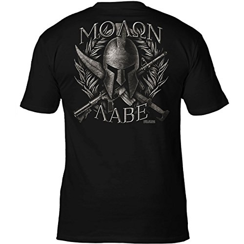 7.62 Design 'Molon Labe' Come & Take Them Spartan Men's T Shirt,Black,X-Large