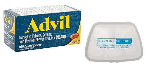 Biosource Nutrition Pocket Pill Pack in Bundle with Advil Ibuprofen 200 mg 100 Coated Caplets
