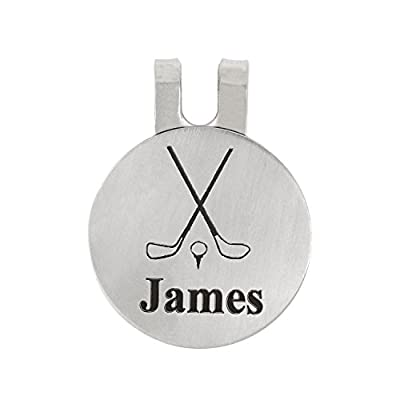 LGU(TM) Personalized Monogrammed Golf Marker, Golf Ball Marker, Pocket Token, Golf Accessory Golf Magnetic Hat Clip with Coin