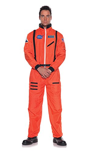 Orange Astronaut Jumpsuit Adult Mens Costumes (Men's Astronaut Costume - Orange, Teen Size)