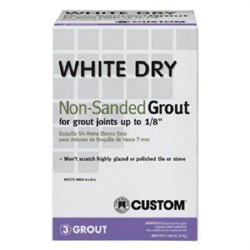 - Custom Building Product WDG5 5 lb Non-Sanded White Tile Grout