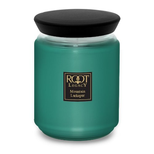 Bon Voyage Bouquet (Root Legacy Queen Bee Scented Jar Candle, Large, Mountain Larkspur)