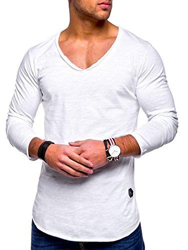 9cc64c8e7362 amp  Reese Cou Encolure Blanc Sweat Montant Col Hommes À Oversize shirt  Rello Pour Ras Du ...