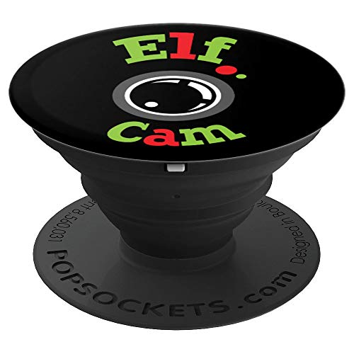 Vintage Red Green Elf Cam Santas Helper Camera Fun Christmas - PopSockets Grip and Stand for Phones and - Camera Helper