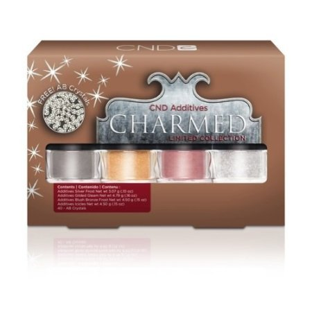 CND Additives Charmed Limited Edition - 4 Holiday Colors - FREE AB CRYSTALS!