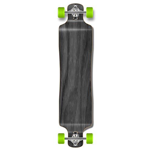 Yocaher Punked Lowrider Drop Down Through Longboard Complete Skateboard (Black)