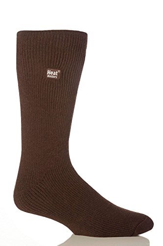 Heat Holders - Mens Winter Warm Thick Bigfoot Thermal Crew Socks Size 13-15 US (Brown)