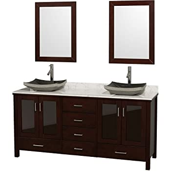 Wyndham Collection Lucy 72 Inch Double Bathroom Vanity In
