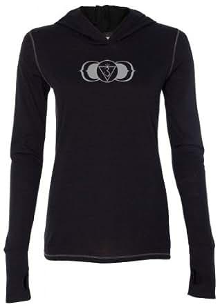 Yoga Clothing For You Ladies AJNA Chakra Tri-Blend Hoodie, Small Solid Black