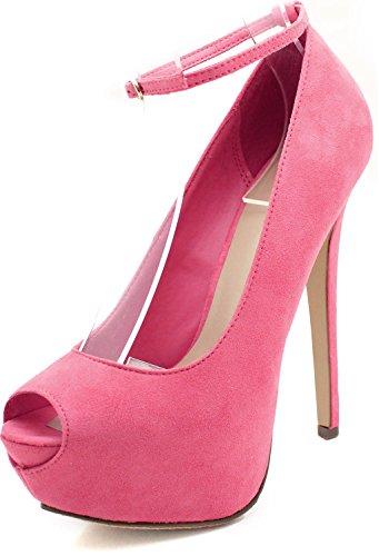 Breckelles Judy-21s Platform Pumps-schoenen Roze Limonade