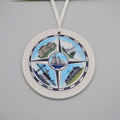 - Ceramic Ornament Mariners Compass-Newport