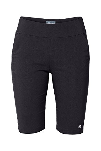 Lija Short - Lija Women's Pull On Knee Shorts, Black, Size 10