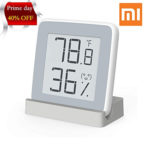 Homidy Digital Hygrometer Indoor Thermometer, Rare 360° HD E-Ink Screen Room Temperature Humidity Meter Swiss SENSIRION High Acurracy Temperature Humidity Gauge Sensor(Xiaomi Mijia -