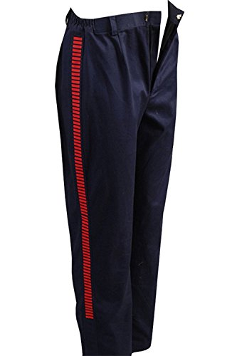 Han Solo Pants Navy Blue with Red Straps Deluxe Pants Halloween Cosplay Costume Male L