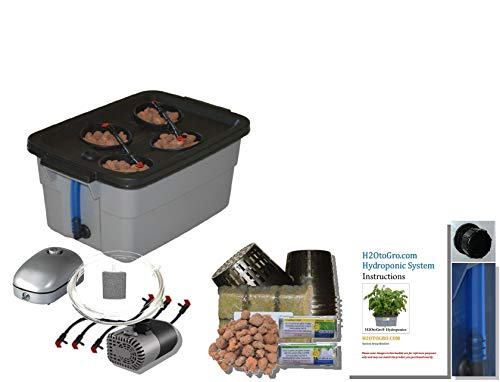 $89.00 Hydroponics Kits Complete Hydroponic system DWC SELF-WATERING Bubbler Kit # 3-4 H2OtoGro 2019