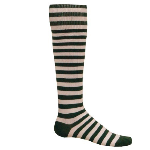 Red Lion Mini Hoop Athletic Socks ( Dark Green / White - Medium )