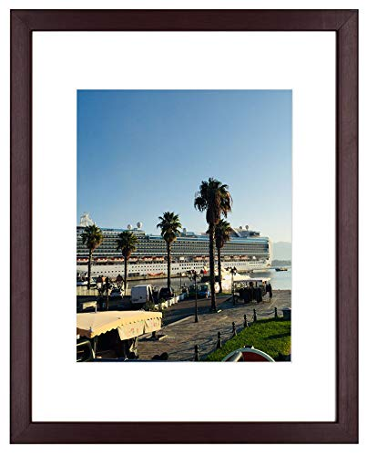 - Golden State Art Mahogany Photo Wood Collage Frame with REAL GLASS (11x14)