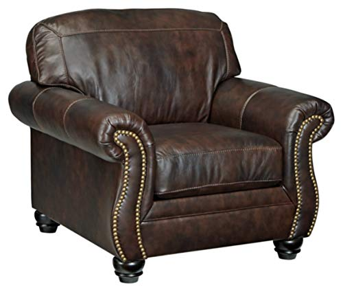Ashley Furniture Signature Design - Bristan Chair - Traditional - Antique Walnut with Nailhead Accents
