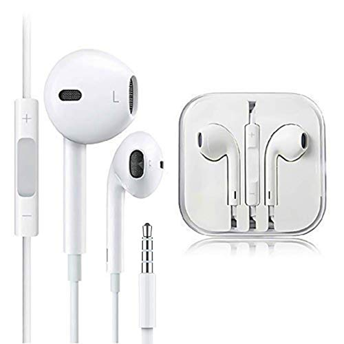 MU-New 2PCS Headphones Earphones with Remote & Mic Compatible with Apple iPhone 6S 6 5 5S 4S (Best Headphones For Iphone 4s)