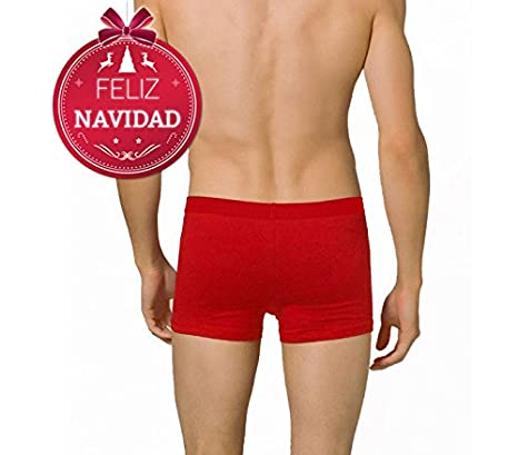 Boxer de Nochevieja para hombre DASHER (color rojo) - Ropa interior masculina - XXL: Amazon.es: Hogar
