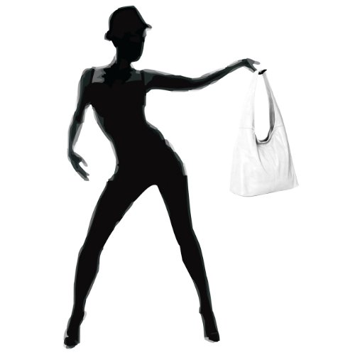 CASPAR Fashion - Bolso al hombro para mujer weiss