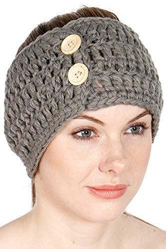 Knit Headbands for Women. Ear Warmer Headband Women. Crochet Headbands. Embellished