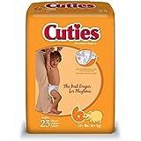 Cuties Premium Baby Diapers, Size 6, Pk/23