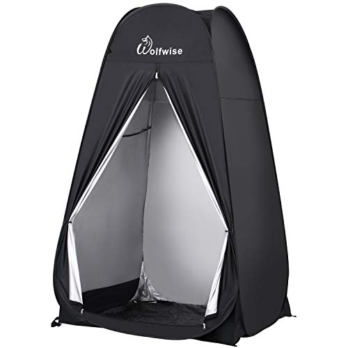WolfWise 6.6FT Portable Pop Up Privacy Tent Spacious Changing Room for Camping Biking Toilet Shower Beach