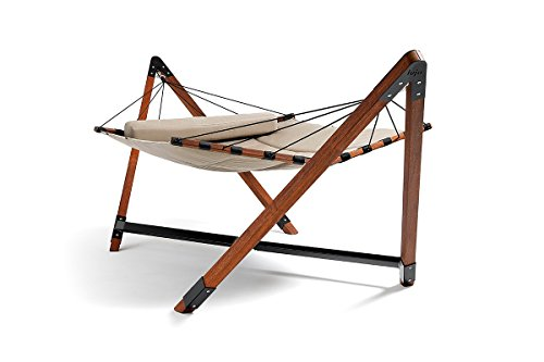 Free-standing Hammock - Quilted - Taj Collection (Double, Taupe)