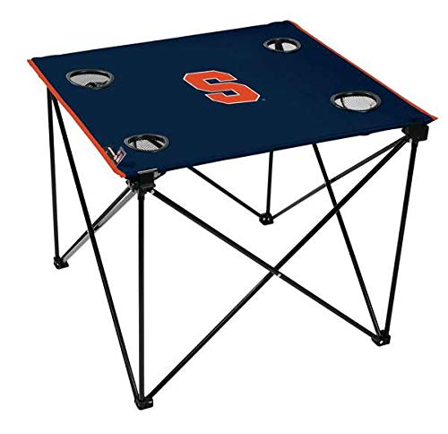 - OKSLO Syracuse university orange deluxe folding table - tailgate camping