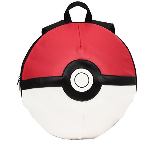Pokemon Backpack Pokeball Kids Boys Girls School Travel Bookbag - Red, Black, White 16