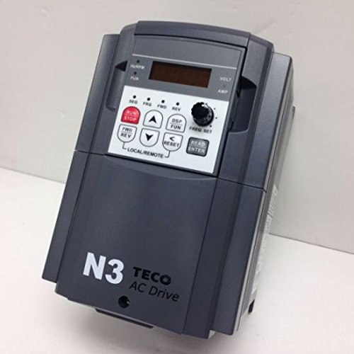 Teco Variable Frequency Drive, 7.5 HP, 460 Volts 3 Phase Input, 460 Volts 3 Phase Output, NEMA 1, N3-407-C-U, Compact Drive VFD Inverter for AC motor control by Teco