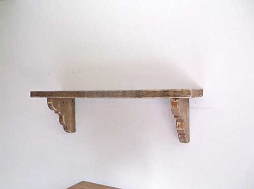 Thick Solid Wood 60'' Floating Farmhouse Shelf with Corbels - Distressed Home Decor