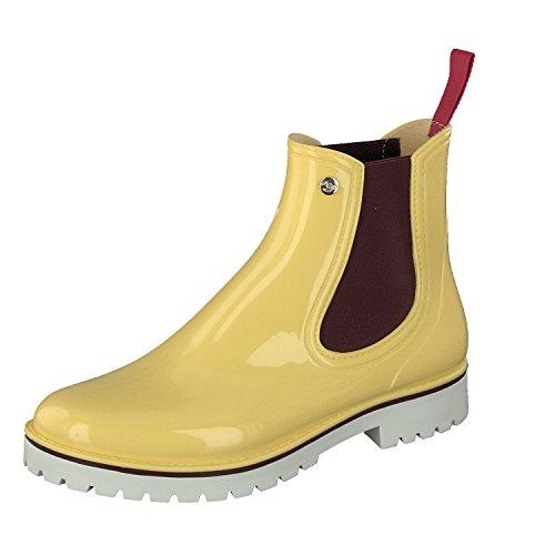 Gosch Scarpe Stivali Signore Scarpe Chelsea Stivali Di Gomma 7105-335-6 In Giallo