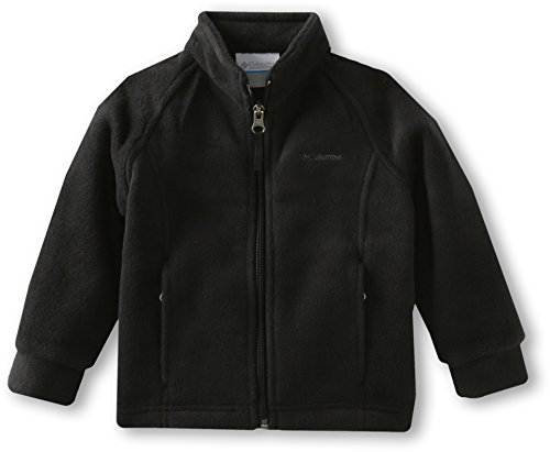 Columbia Baby Girls' Benton Springs Fleece Jacket, Black, 12-18 Months