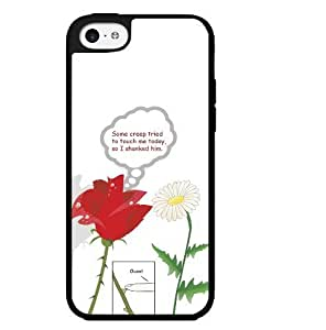 Fun Flower Humor 'Some Creep Tried to Touch Me, so I Shanked Him'. Hard Snap on Phone Case (iPhone 5c) Designed by HnW Accessories