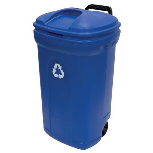 UNITED SOLUTIONS TB0056 34 gallon Blow Molded Recycling Trash Can
