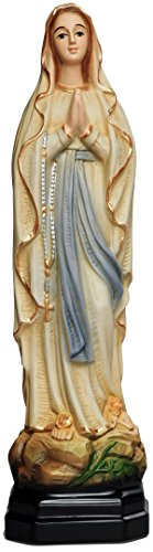 "12"" Our Lady of Lourdes Statue Resin"