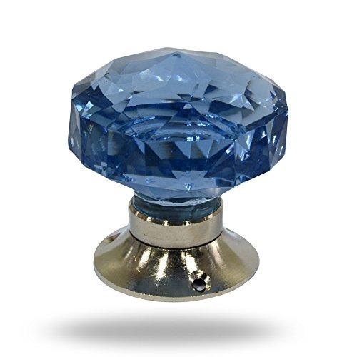 Cut Glass Crystal Illusion Mortice Knobs Lavender Blue by Trinca-Ferro